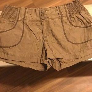 Pants - Brown stretchy shorts EUC